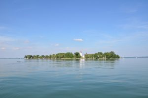 Chiemsee mit Schloss Herrenchiemsee
